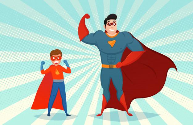 superhéroes aliados por pacto en tratamiento odontológico para niños